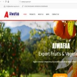 Design website to ALWAFAA Company for Export Fruits & Vegetables