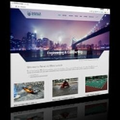 Design website for ORIENTECK Company for construction